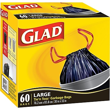Glad® Garbage Bag, Tie 'n Toss, 30