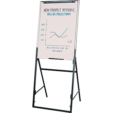 Quartet® Futura Adjustable/Convertible Presentation Easel with Whiteboard, 26
