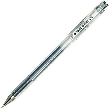 Pilot G-Tec Gel Pens, 0.4mm, Black, 2/Pack