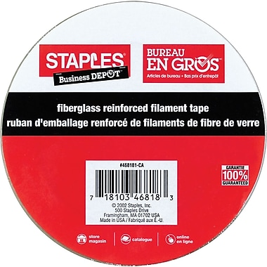 Staples® Filament Strapping Tape. 18mm x 55m