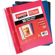 Staples® 3-Tang Clear-Front Report Covers