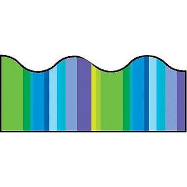 Trend - Bordures de tableau d'affichage, Cool Stripes Scallop