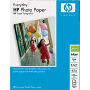 HP Everyday Photo Paper, 8 1/2 x 11, Matte, 100/Pack