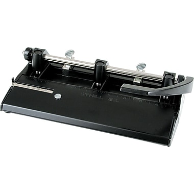 Swingline® M400 Adjustable Heavy-Duty Letter 1- to 7-Hole Punch, 24-Sheet Capacity