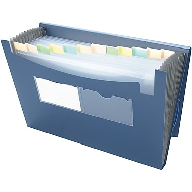 Winnable Poly Expanding File, 13-Pocket, Letter Size, Blue