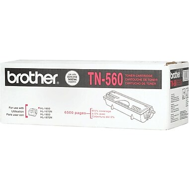 Brother Toner Cartridge, Black, High Yield (TN-560)