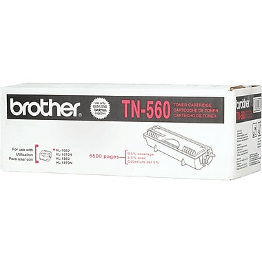 Brother TN-560 Black Toner Cartridge, High Yield