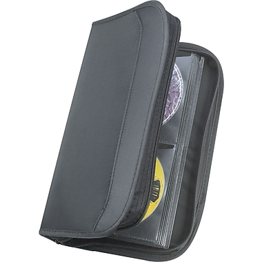 Staples® 64-Capacity CD/DVD Wallet Case.