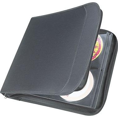 Staples 128 CD Wallet, Black 11.7in. x 12.4in. x 1.9in.