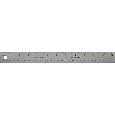 Staples® Stainless Steel Rulers, 12