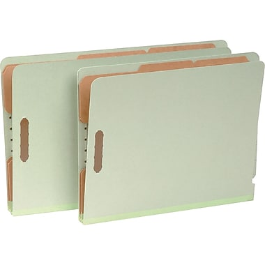 Pendaflex® Pressboard End-Tab Classification Folders, Pale Green