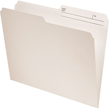 Oxford® Recycled File Folders, 1/2-Cut, Ivory
