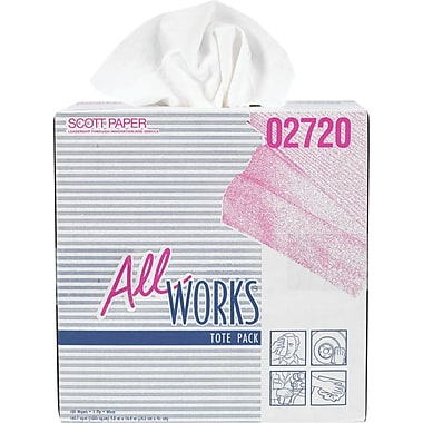 AllWorks All Purpose Paper Towel Wipers, 100/Pack