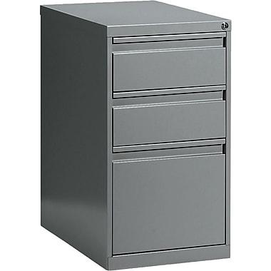 Global® Box/Box/File Pedestal, 3-Drawer, Grey