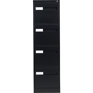 Global® 2800 Series Premium Vertical Letter File Cabinet, 4-Drawer, Black