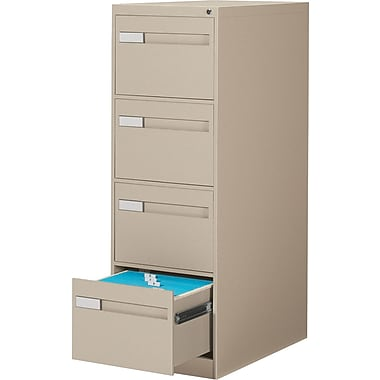Global® 2800 Series Premium Vertical Legal File Cabinets, 4-Drawer, Sand