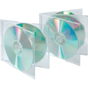 Staples® Multi-Disc Jewel Cases, Double, 25-Pack