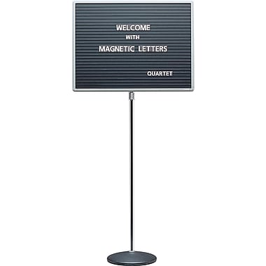 Quartet® Adjustable Single-Pedestal Message/Letter Board, 24
