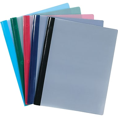 Staples® 3-Tang Clear-Front Poly Report Covers