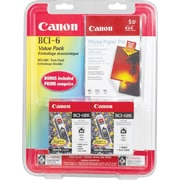 Canon® BCI-6Bk Black Ink Tanks, Twin Pack (4705A020)