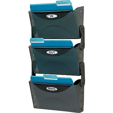 Rubbermaid® Ultra Hot File 3-Pocket Wall File System, Legal Size