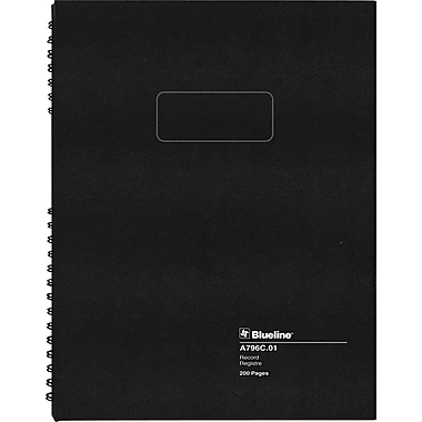 Blueline® A796 Series AccountPro Record Book, 200 Pages