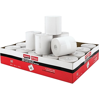 Staples® Thermal Paper Rolls, 3