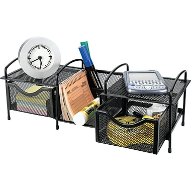 Rolodex® Expressions Black Wire Mesh Multi-Organizer