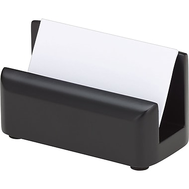 Wood Tones™ Black-Finish Business Card Holder