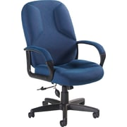 Global Lumbar Pump Fabric Managers High Back Chair, Blue