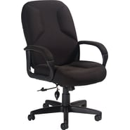 Global Lumbar Pump Fabric Managers High Back Chair, Black
