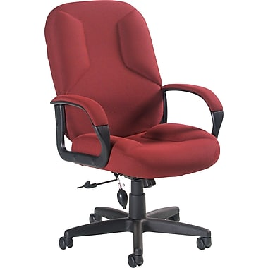 Global Lumbar Pump Fabric Managers High Back Chair, Burgundy