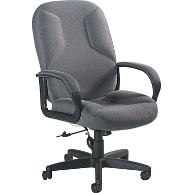 Global Lumbar Pump Fabric Managers High Back Chair, Gray