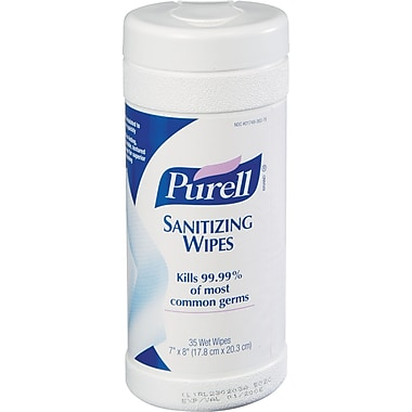 Purell® Pop-Up Instant Hand Sanitizing Wipes, 35 Wipes/Tub