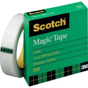 "Scotch 810 Magic™ Tape Refill, 1/2"" x 72 yds., 3"" Core"