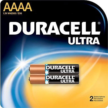 Duracell MX2500 Ultra AAAA Batteries, 2/Pack