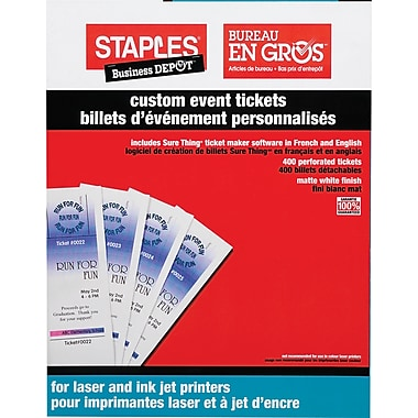 Office depot templates staples custom event tickets for Office depot raffle ticket template