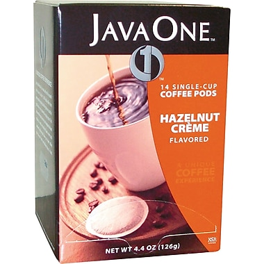 Java One Single Cup Hazelnut Creme Ground Coffee, Regular, .3 oz., 14 Pods