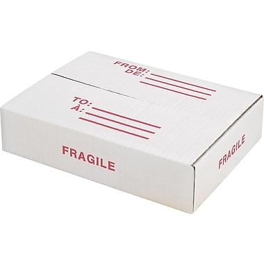Staples® - Boîtes en carton ondulé, 11 x 8 x 2 po, blanc