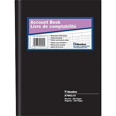 Blueline® Record Book, A7963.01, 10-1/4