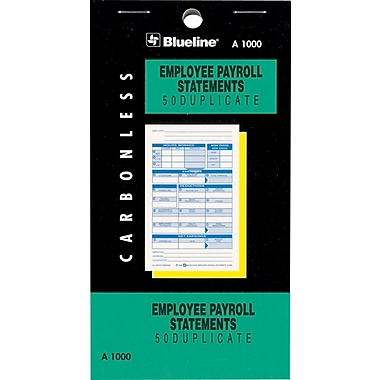 Blueline® Statement Books, A1000, Duplicate Payroll Statements