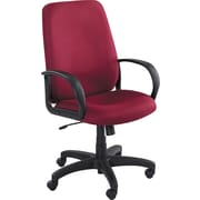 "Safco® Poise™ Collection Executive High-Back Swivel Chair, Fabric, Burgundy, Seat: 21""W x 20""D, Back: 22 1/2""W x 25""H"