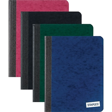 Staples® Pressboard Composition Book, College Ruled, 7in. x 9in.