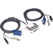 IOGEAR® MiniView™ Micro USB PLUS KVM Switch, 2 ports