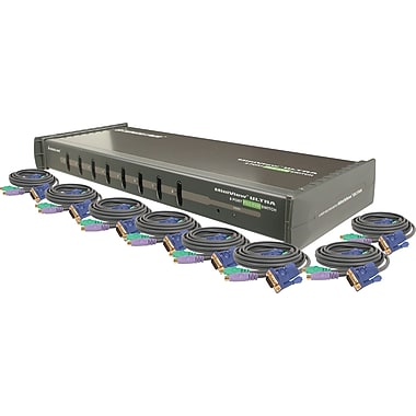 IOGEAR 8-Port KVM Switch w/ Cables Kit