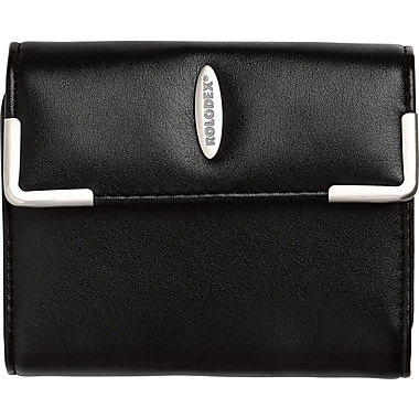 Rolodex® 36-Card Black Faux Leather Compact Business Card Book