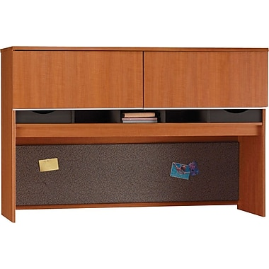 Bush Milano2 66in.W Credenza Hutch, Golden Anigre
