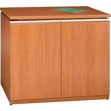 Bush Milano2 36in.W Storage Cabinet, Golden Anigre