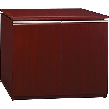 Bush Milano2 36in.W Storage Cabinet, Harvest Cherry, Fully Assembled