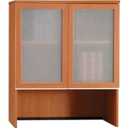 Bush Business Milano2 36W Bookcase Hutch with Glass Doors, Golden Anigre, Installed